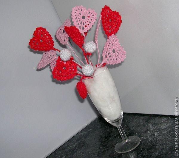 букет-валентинку из