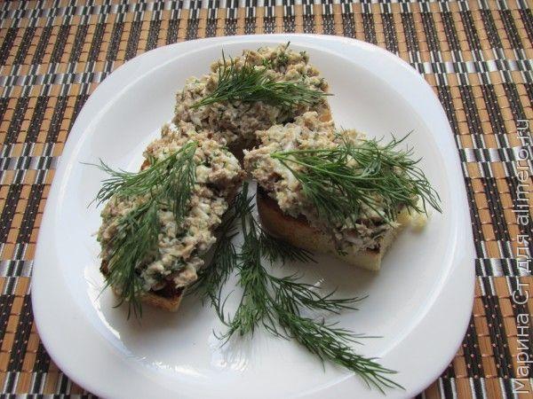Бутерброды с консервированной сардиной