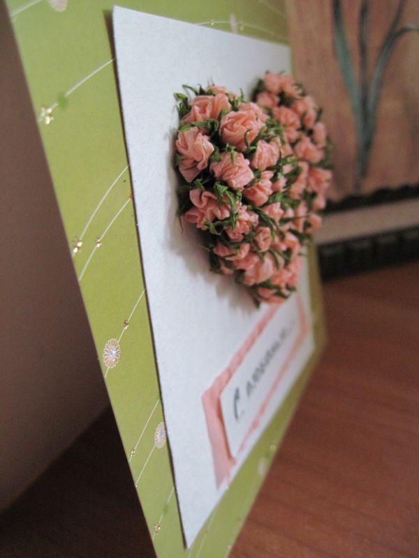 Гофрированная бумага цветы для открытки, днем рождения