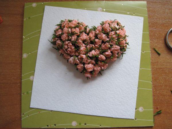 Розы из бумаги гофрированной для открытки, картинки