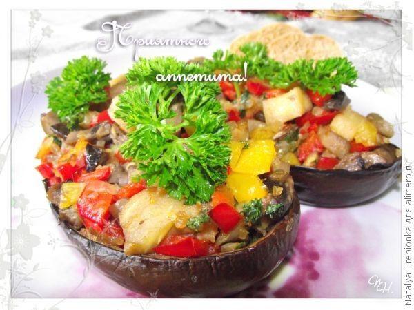 Баклажаны с грибами рецепты с фото