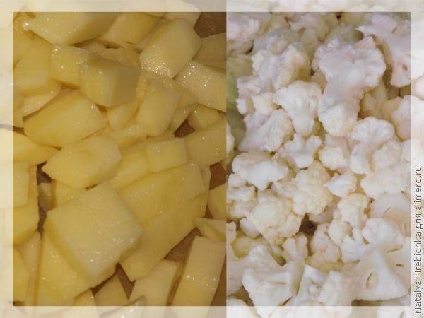 картошка и цветная капуста