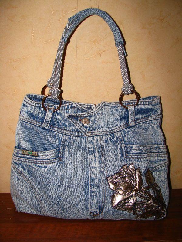 Купить джинсовая сумка - старые джинсы