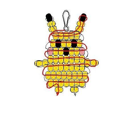 Видео бисероплетение Схема фенечки пикачу: бисероплетение вереск, схема фенечки ария.  Пикачу) Альбом (23) Бисер и.