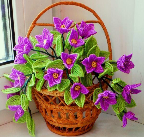 Цветы из бисера .. - блоги В ГОРОДЕ.RU.
