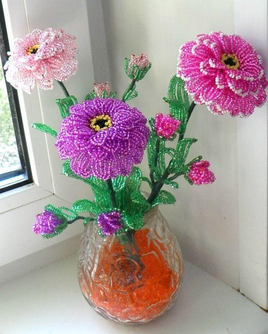 Бисероплетение.  Жизнь творчества. бисера десять самых популярных садовых цветов, в том числе тюльпаны, фуксии...