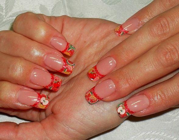 Наращивание ногтей френч: гелем, акрилом. Френч