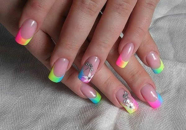 Дизайн ногтей френч лето фото
