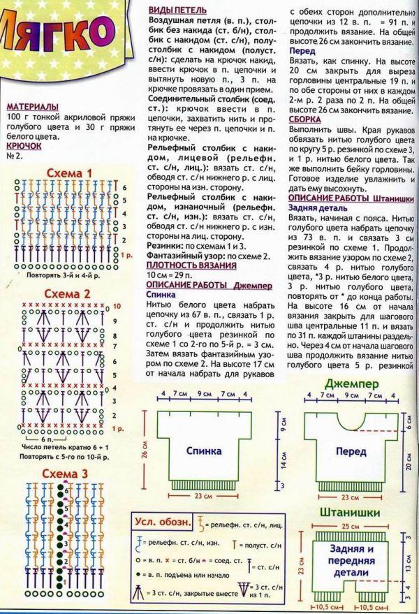 Схемы вязания для детей от 0 до
