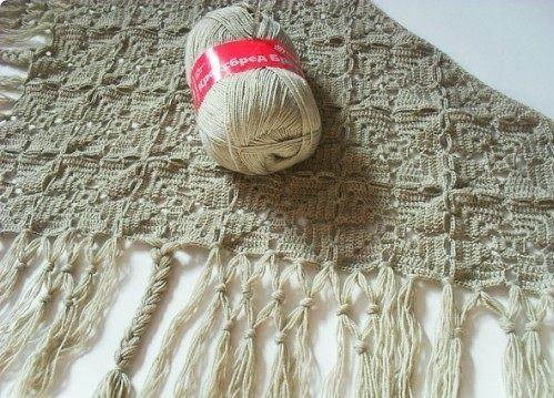 Вязание шали крючком. Схемы