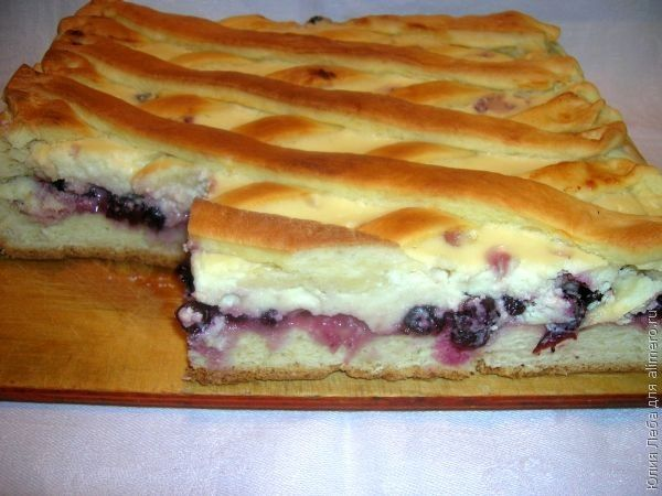 Рецепт пирог ягоды сметана творог