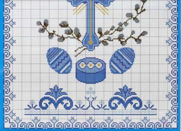Схема вышивки. Пасха
