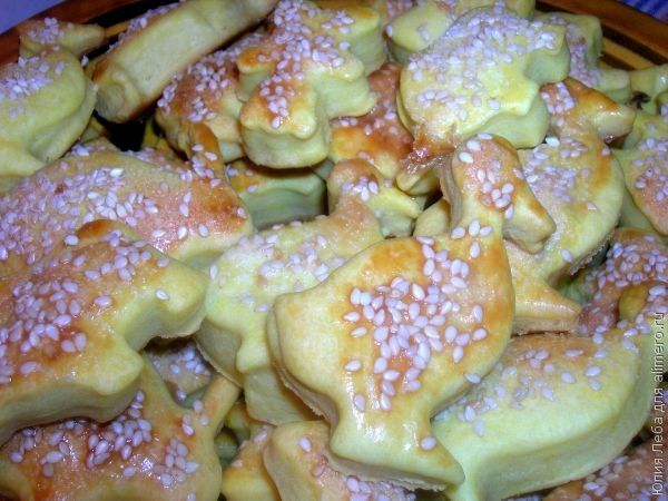 Печенье из слоёного теста