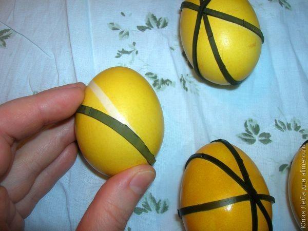 Крашеные яйца к Пасхе