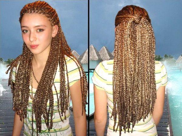 Как сделать африканскую косу
