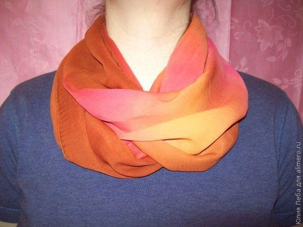 Как красиво завязать на шее шарф