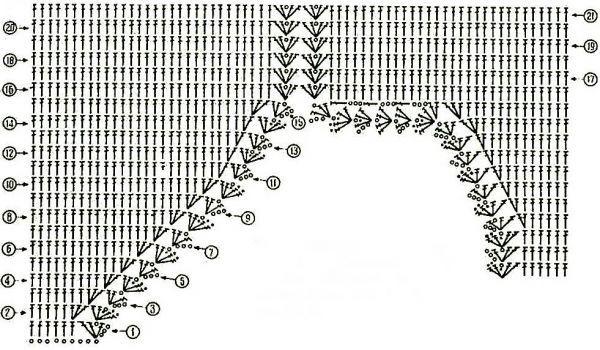 Вязание крючкомкупальник схема 39