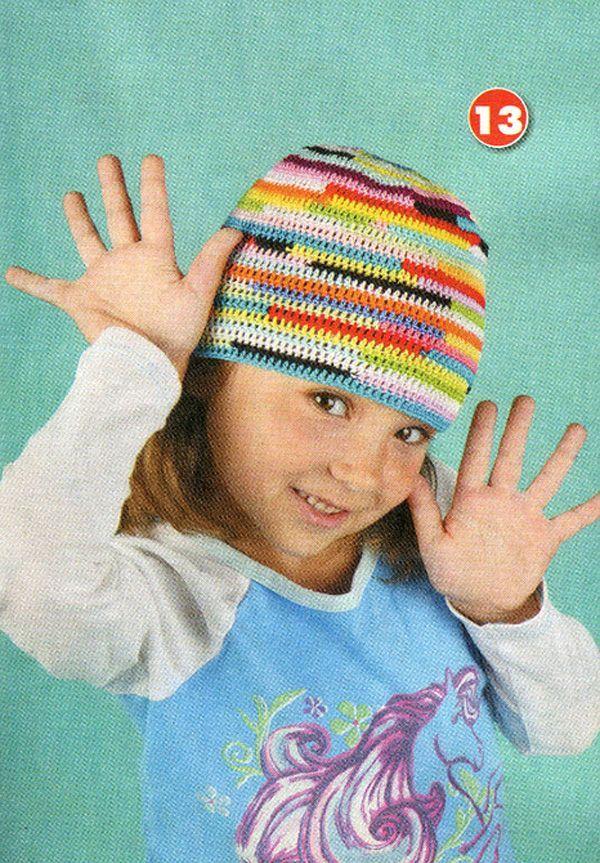 Детские панамки. Схемы вязания