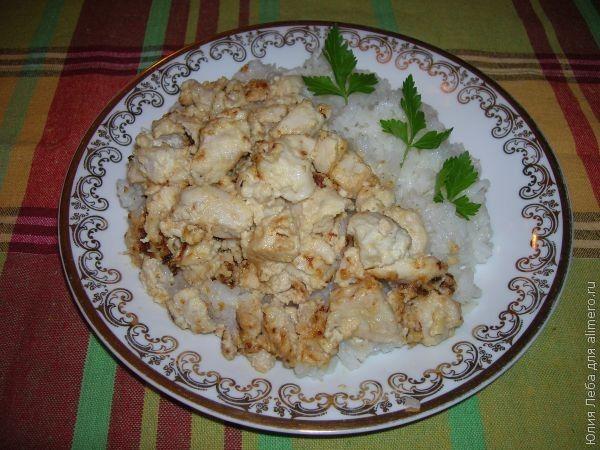 Куриная грудка тушеная в сметане рецепты с пошагово