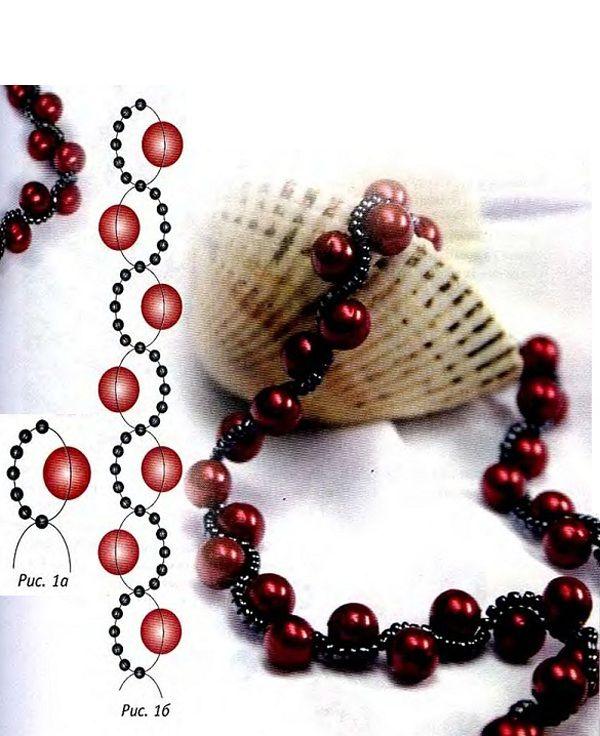 Ягодка. Схема плетения