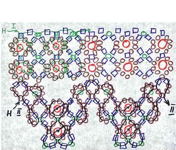 Эта схема плетения не содержит в себе сложных элементов. Вид готового изделия во многом зависит от цвета и качества бисера.