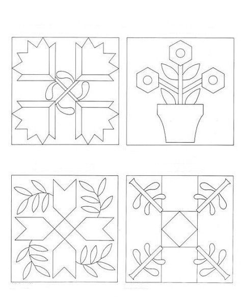 Лоскутное шитье схемы. 1 из 15