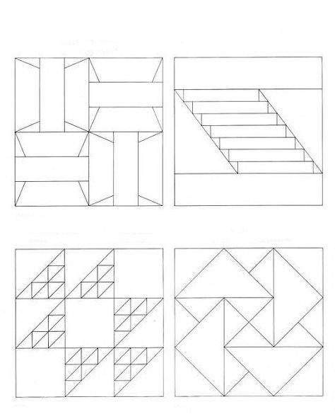Интересное решение можно получить, используя различные вариации несложных геометрических фигур – ромбов, треугольников, прямоугольников.