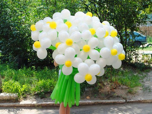 Букеты из шаров своими руками фото