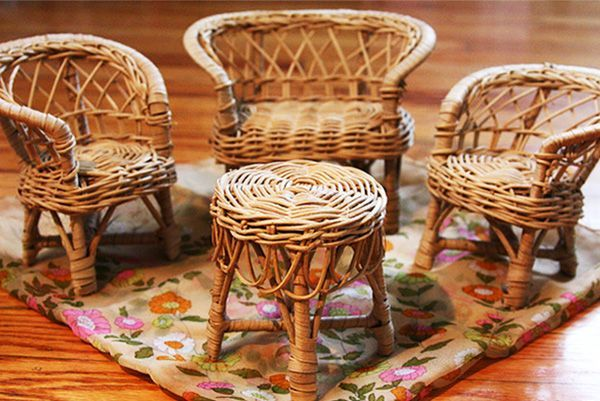 Мебель своими руками из газетных трубочек