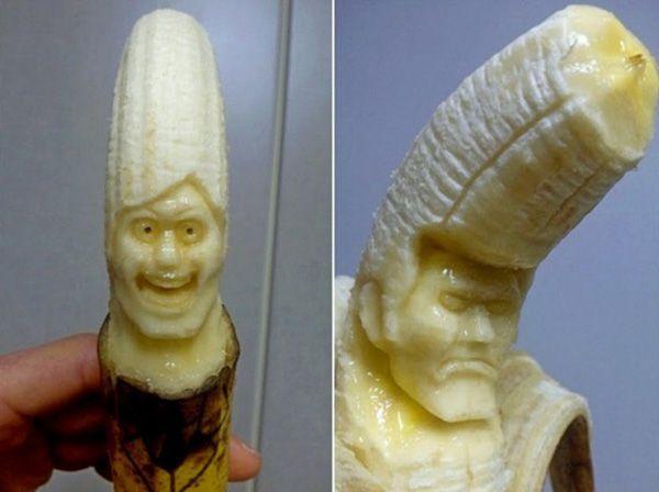 Из-за того, что бананы сами по себе мягкие и довольно быстро портятся, карвинг по ним считается одним из самых сложных.