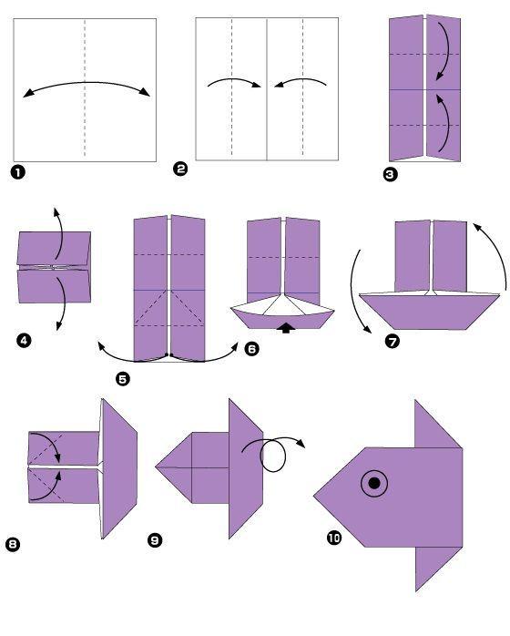 Изготовление простейших оригами