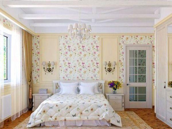 Маленькая спальня дизайн в стиле прованс