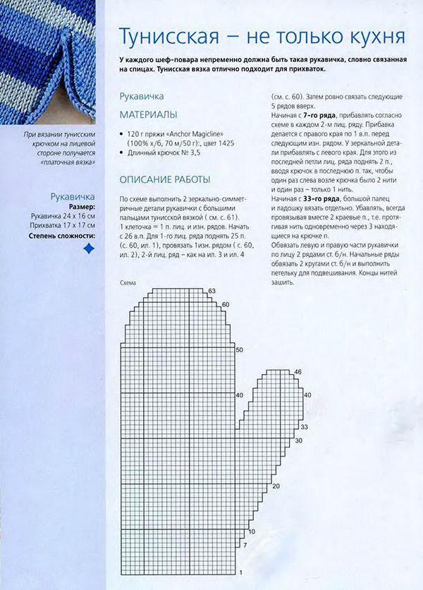 Вяжем прихватки спицами со схемами