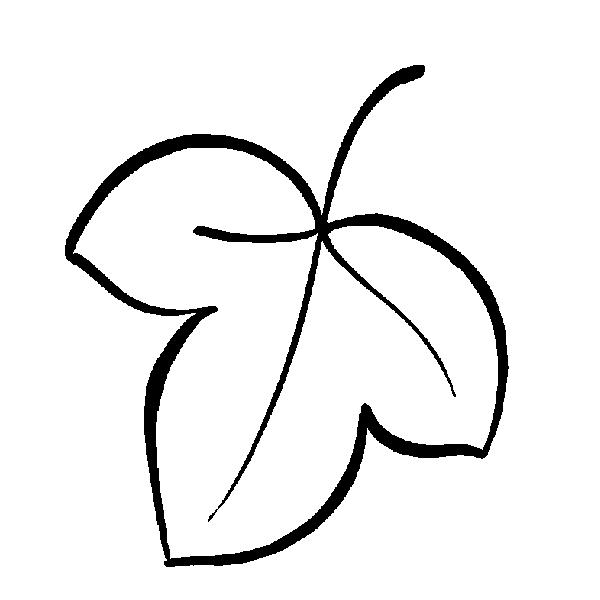 Раскраска листьев - 6