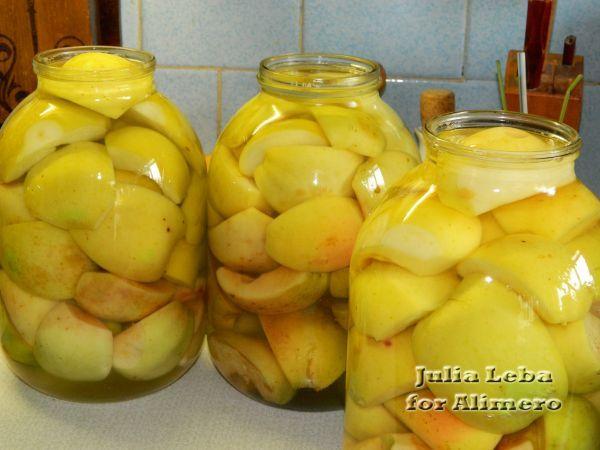 Заготовка на зиму «Заливные яблочки»