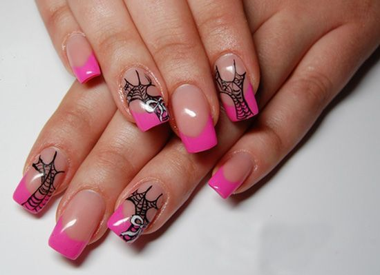 фото на ногтях паутинка