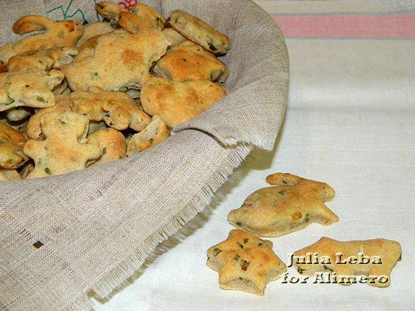 Ржано-пшеничные печенья с зеленью и специями