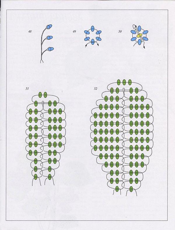 Схемы цветов из бисера ромашки схема