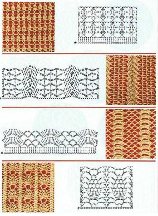 Ажурные схемы крючком