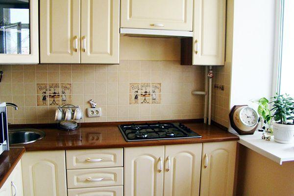 Дизайн кухни 6 кв.м с газовой колонкой