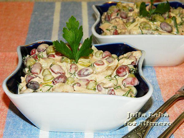 салат из фасоли консервированной рецепты с огурцом