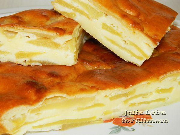 шарлотка на сметане с яблоками рецепт с фото