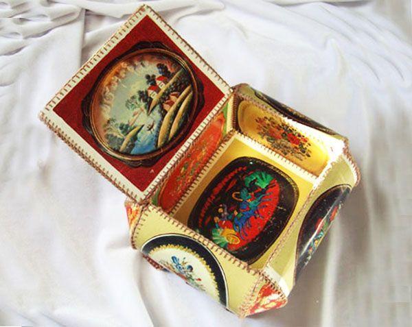 Шкатулки из открыток своими
