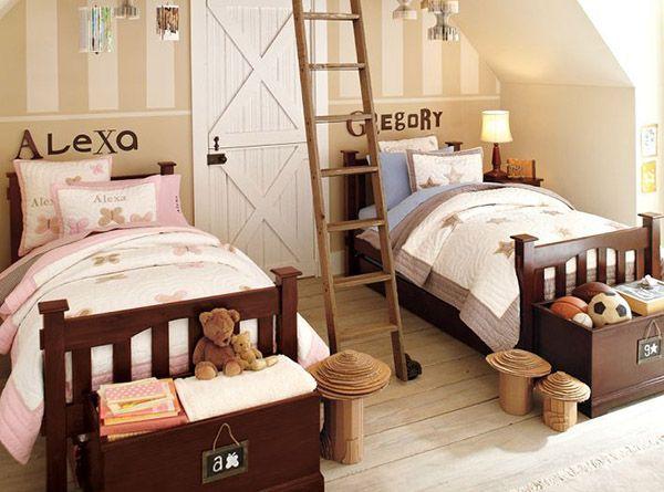 В одном возрасте интересы мальчиков и девочек примерно совпадают и можно найти компромисс в вопросе тематики комнаты.