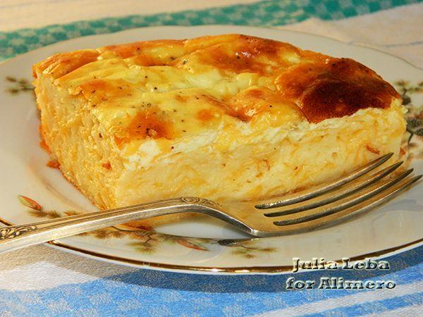 Сырный пирог с аппетитной корочкой