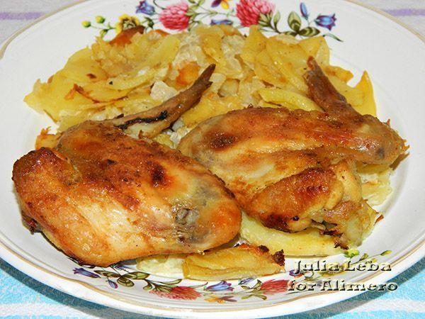 Куриные крылышки с вкусной картошечкой