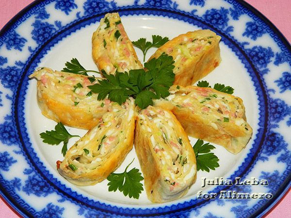 Закусочные рулеты рецепты с фото