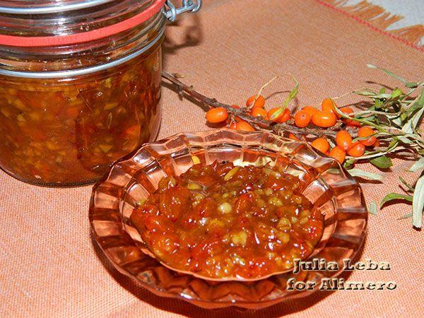 Облепиховое варенье с грецкими орехами