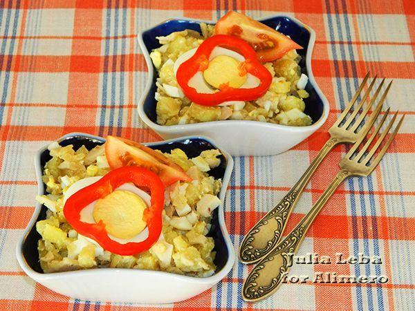 Салат с кальмаром без майонеза