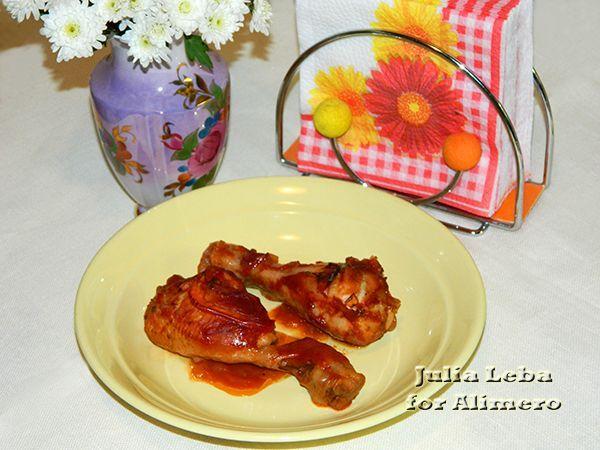 Куриные ножки в винном соусе